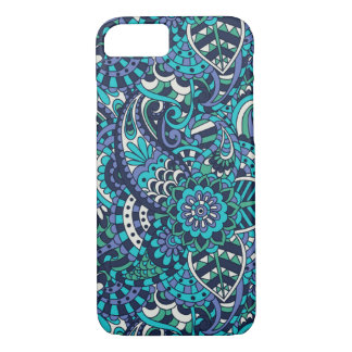 Multicolor Pink, Blue and Purple Paisley Pattern iPhone 8/7 Case