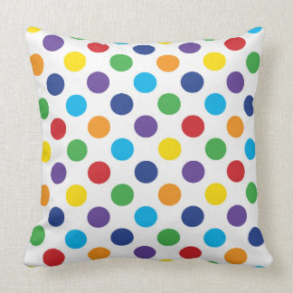 Multicolor Polka Dot pattern Throw Pillow