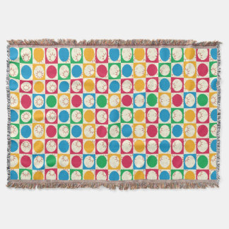 Multicolor Polka dot Sunshine Throw Blanket