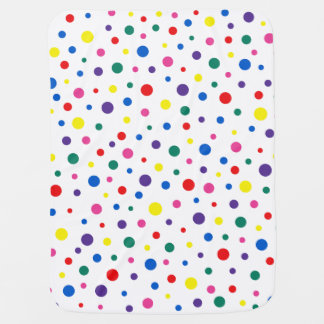 Multicolor polka dots Polkadots -  colorful circle Baby Blanket