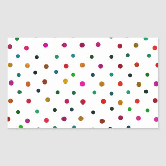 Multicolor Polka Dots. Red, Blue, Brown, Green Sticker