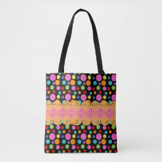 Multicolor Polka Dots Tote Bag