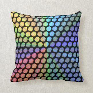 Multicolor Prism Effect Throw Pillow