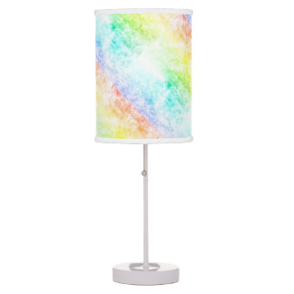 Multicolor Rainbow Clouds Customize or Stay Cloudy Desk Lamps
