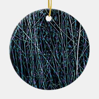 Multicolor Reeds in Blue and Purple Ceramic Ornament