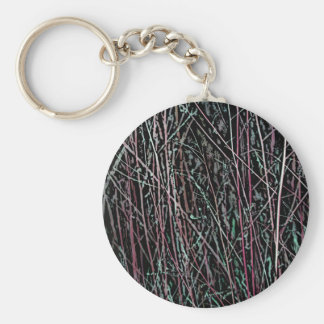 Multicolor Reeds in Pink and Green Keychain