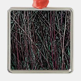 Multicolor Reeds in Pink and Green Metal Ornament