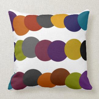 Multicolor Retro Bubble Graphic Throw Pillow