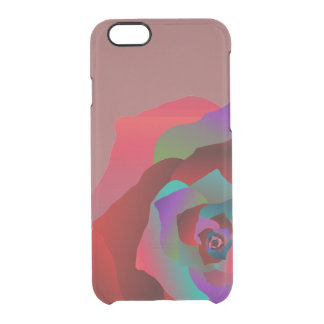 Multicolor Rose, Clear iPhone 6/6S Case