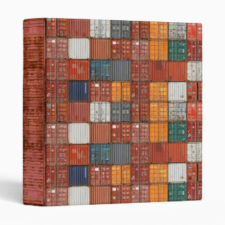 Multicolor Shipping Containers Binder