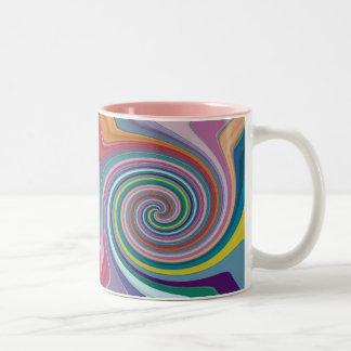 Multicolor spiral Coffee Mug
