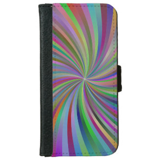 Multicolor spiral iPhone 6 wallet case