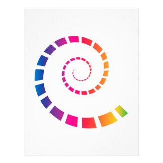 Multicolor Spiral Letterhead