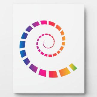 Multicolor Spiral Plaque