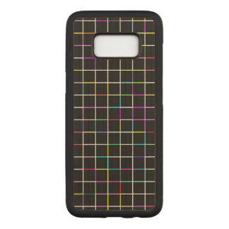 Multicolor Square Lined Pattern Carved Samsung Galaxy S8 Case