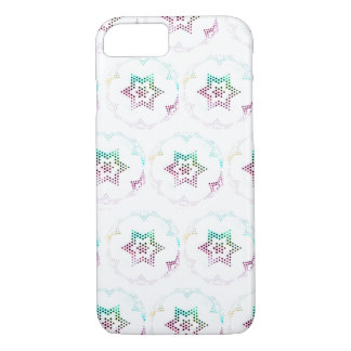 Multicolor Star Dot Pattern iPhone 7 Case