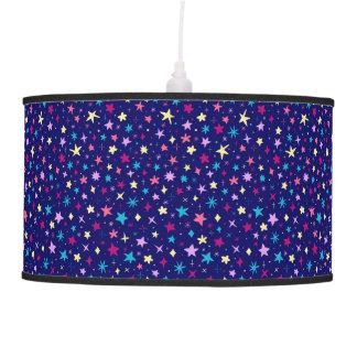 Multicolor stars pattern Pendant Lamp