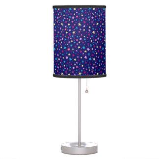 Multicolor stars pattern Table Lamp
