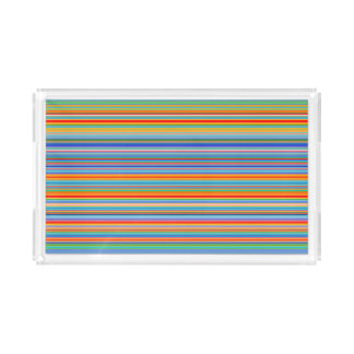 Multicolor Striped Pattern Acrylic Tray