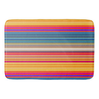 Multicolor Striped Pattern Bathroom Mat