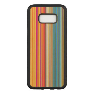 Multicolor Striped Pattern Carved Samsung Galaxy S8+ Case
