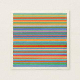 Multicolor Striped Pattern Disposable Napkin