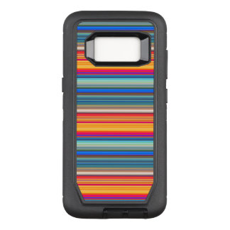 Multicolor Striped Pattern OtterBox Defender Samsung Galaxy S8 Case