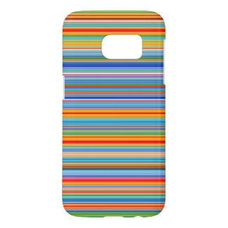 Multicolor Striped Pattern Samsung Galaxy S7 Case