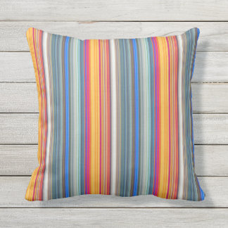 Multicolor Striped Pattern Throw Pillow