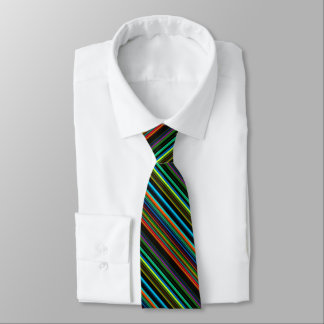 Multicolor Striped Pattern Tie