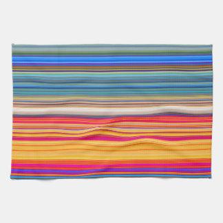 Multicolor Striped Pattern Towel