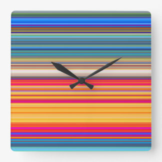 Multicolor Striped Pattern Wall Clock