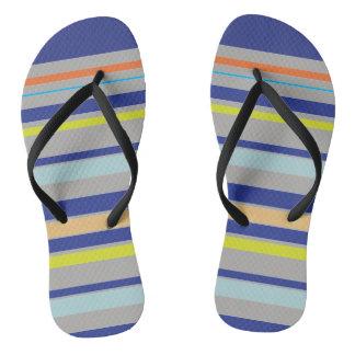 Multicolor stripes Adult, Slim Straps Flip-flops Flip Flops