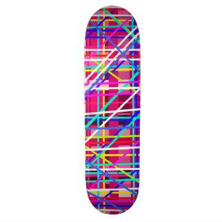 Multicolor stripes blocks skateboard