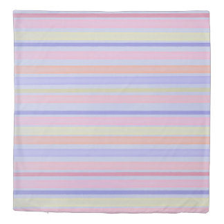 Multicolor stripes design duvet cover
