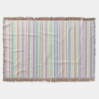 Multicolor stripes design throw