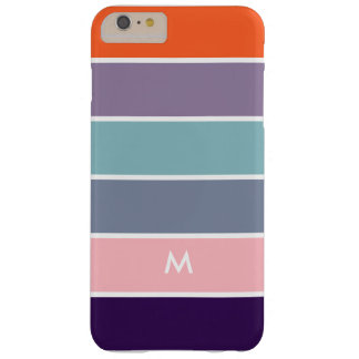 Multicolor Stripes Modern Geometric Design Barely There iPhone 6 Plus Case