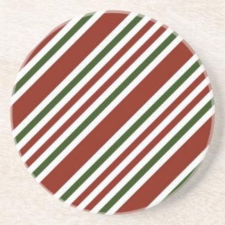 Multicolor Stripes Pattern Drink Coaster
