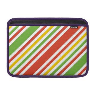 Multicolor Stripes Pattern MacBook Sleeve