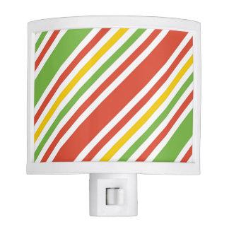 Multicolor Stripes Pattern Nite Lights