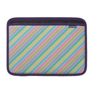 Multicolor Stripes Pattern Sleeve For MacBook Air