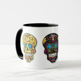 Multicolor Sugar Skulls Day of the Dead Mug