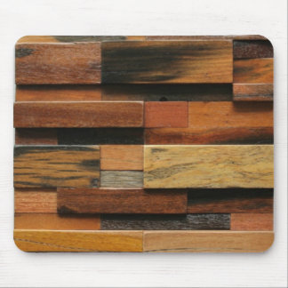 Multicolor Textured Wood Collage Mouse Pad