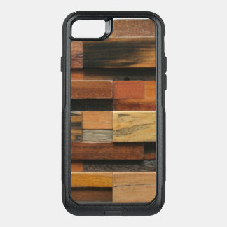 Multicolor Textured Wood Collage OtterBox Commuter iPhone 8/7 Case