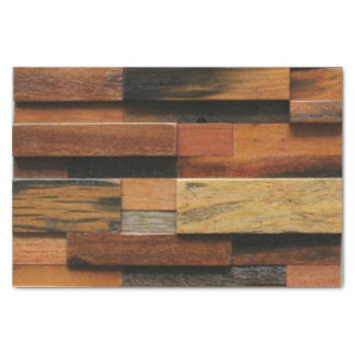 Multicolor Textured Wood Collage Tissue Paper