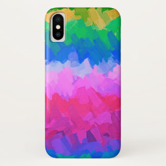 Multicolor Watercolor Abstract Background iPhone X Case