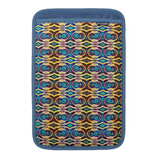 Multicolored Abstract Chains. Geometric Pattern Sleeves For MacBook Air
