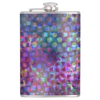 Multicolored Abstract Digital Art Flask