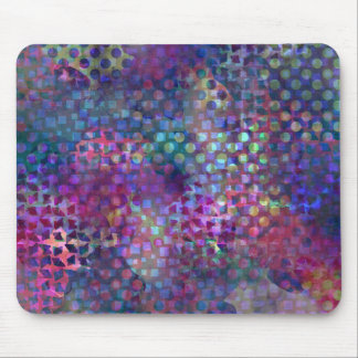 Multicolored Abstract Digital Art Mouse Pad