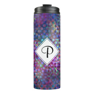 Multicolored Abstract Digital Art Thermal Tumbler